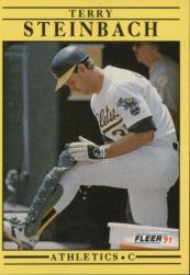 1991 Fleer #24 Terry Steinbach