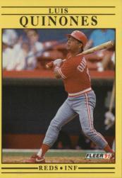 1991 Fleer #77 Luis Quinones