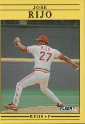 1991 Fleer #79 Jose Rijo