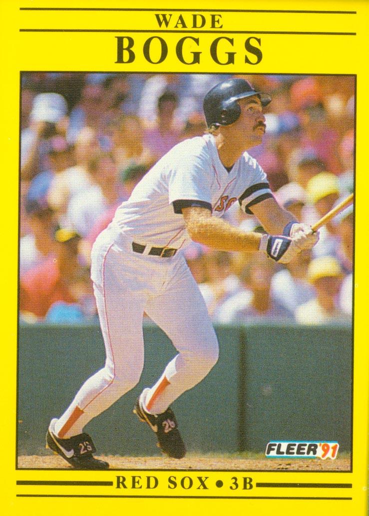 1991 Fleer #86 Wade Boggs