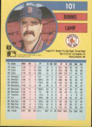 1991 Fleer #101 Dennis Lamp back image