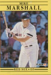 1991 Fleer #102 Mike Marshall