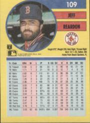 1991 Fleer #109 Jeff Reardon back image