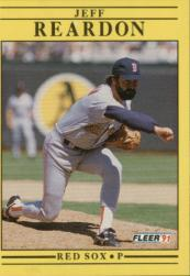 1991 Fleer #109 Jeff Reardon