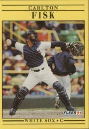 1991 Fleer #118 Carlton Fisk