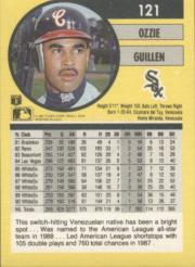 1991 Fleer #121 Ozzie Guillen back image