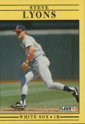 1991 Fleer #127 Steve Lyons