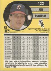 1991 Fleer #132 Ken Patterson back image
