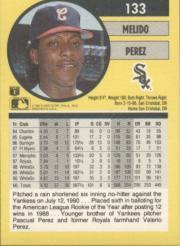 1991 Fleer #133 Melido Perez back image