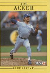 1991 Fleer #167 Jim Acker
