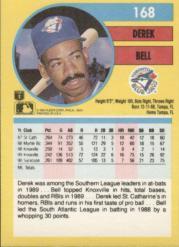 1991 Fleer #168 Derek Bell back image