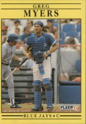 1991 Fleer #182 Greg Myers
