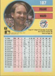 1991 Fleer #187 Duane Ward back image