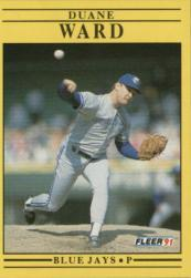 1991 Fleer #187 Duane Ward