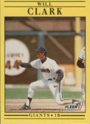 1991 Fleer #259 Will Clark