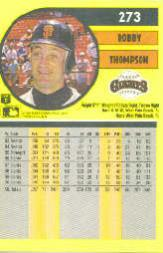 1991 Fleer #273 Robby Thompson back image