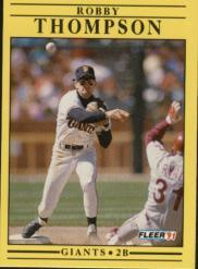 1991 Fleer #273 Robby Thompson