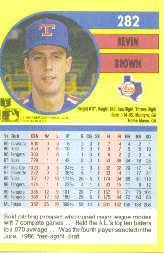 1991 Fleer #282 Kevin Brown back image