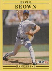1991 Fleer #282 Kevin Brown