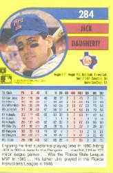 1991 Fleer #284 Jack Daugherty back image
