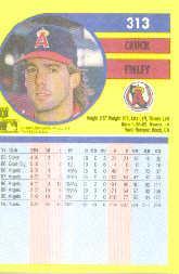 1991 Fleer #313 Chuck Finley back image