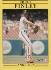 1991 Fleer #313 Chuck Finley