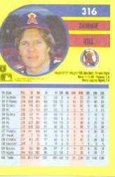 1991 Fleer #316 Donnie Hill back image