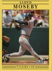 1991 Fleer #344 Lloyd Moseby