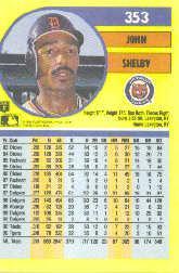 1991 Fleer #353 John Shelby back image