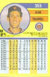1991 Fleer #355 Alan Trammell back image