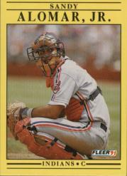 1991 Fleer #359 Sandy Alomar Jr.