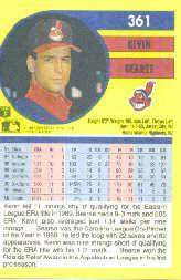 1991 Fleer #361 Kevin Bearse back image