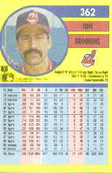 1991 Fleer #362 Tom Brookens back image