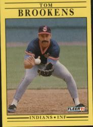 1991 Fleer #362 Tom Brookens