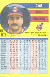 1991 Fleer #368 Keith Hernandez back image