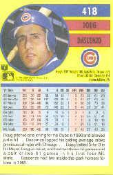 1991 Fleer #418 Doug Dascenzo back image