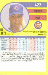 1991 Fleer #427 Derrick May back image
