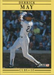 1991 Fleer #427 Derrick May