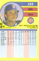 1991 Fleer #433 Greg Smith back image