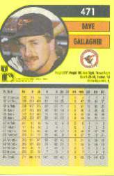 1991 Fleer #471 Dave Gallagher back image