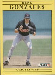 1991 Fleer #473 Rene Gonzales