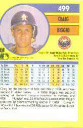 1991 Fleer #499 Craig Biggio back image