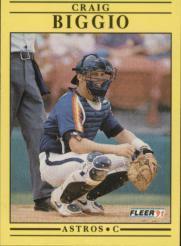 1991 Fleer #499 Craig Biggio