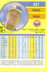 1991 Fleer #521 Gerald Young back image