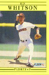 1991 Fleer #547 Ed Whitson