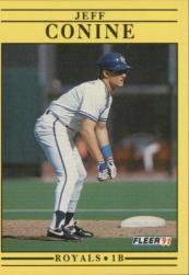 1991 Fleer #553 Jeff Conine RC