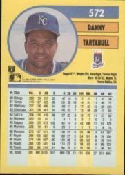 1991 Fleer #572 Danny Tartabull back image