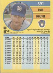 1991 Fleer #591 Paul Molitor back image