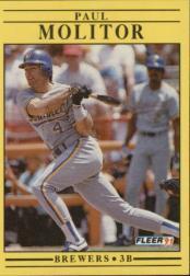 1991 Fleer #591 Paul Molitor