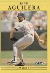 1991 Fleer #602 Rick Aguilera